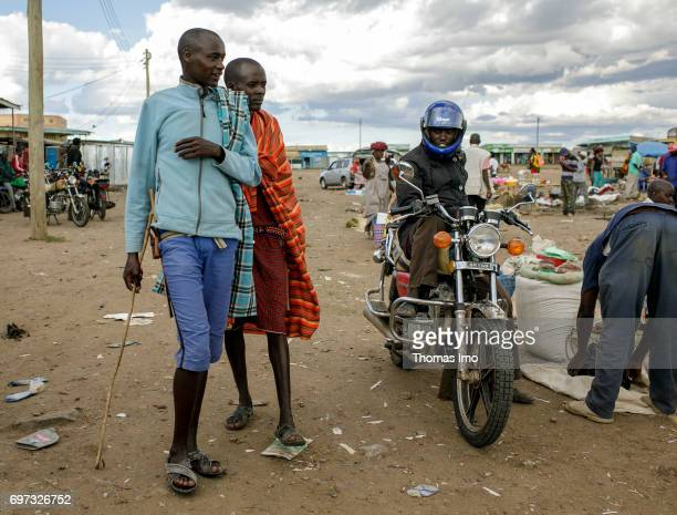 Young african at a market on May 17 2017 in Talek Kenya