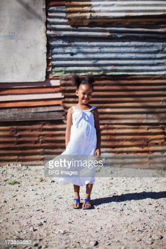 Young African girl in Township, Cape Town, South Africa