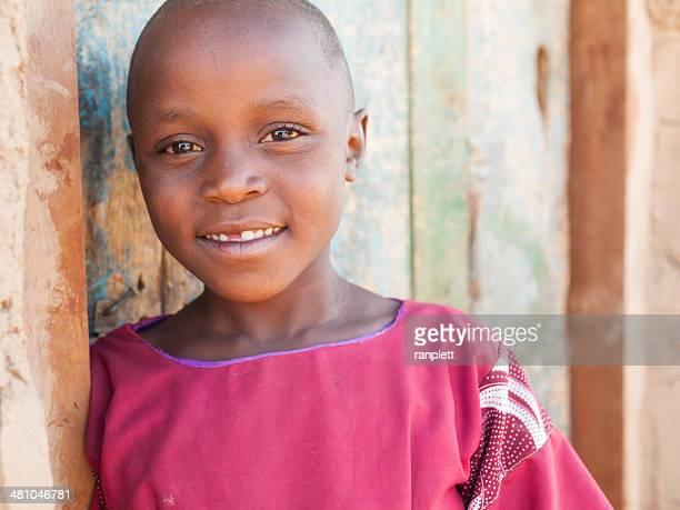 Junge afrikanische Frau Lächeln