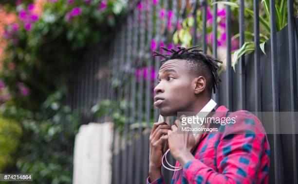 Ung afrikansk man.