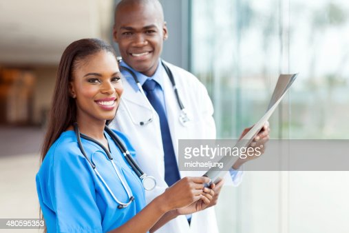 young african medical doctors : Stock Photo