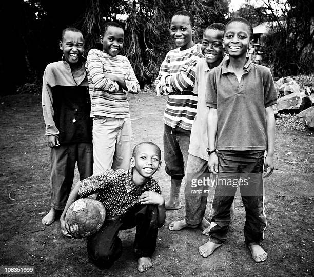 Young African Soccer Players