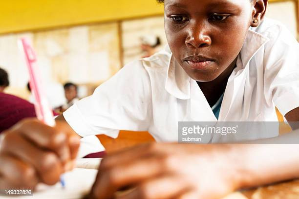 Young African student in Classroom