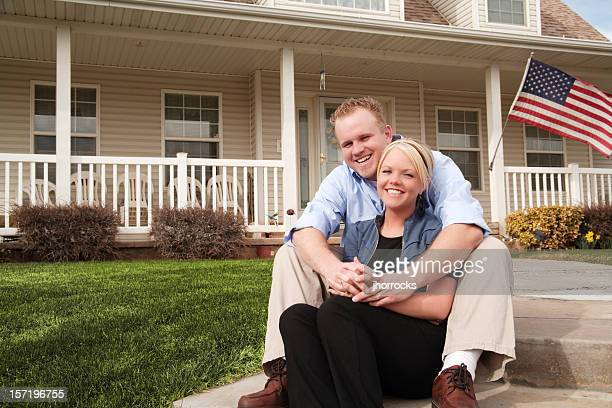 Young American Couple At Home