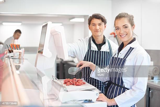 Jeune apprenti bouchers