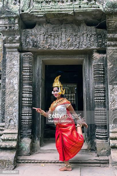 Young Apsara khmer woman dancing, Angkor, Cambodia