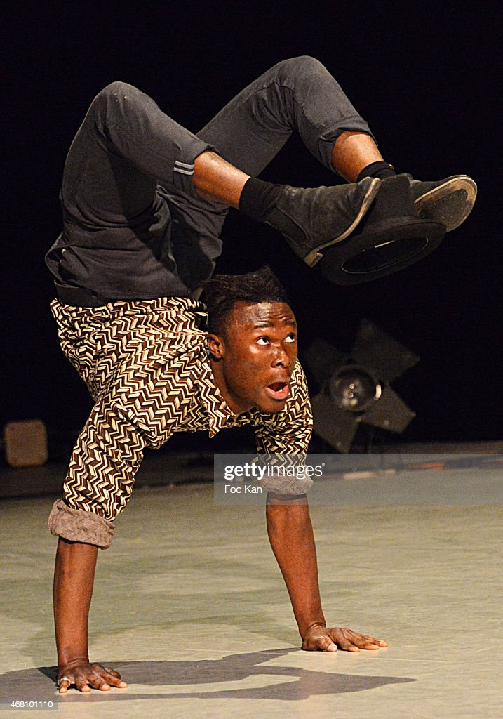 Young artist Abdoulaye Keita performs during the Concert Cirque In Benefit Of 'Cameleon' Abused Children Care Association At Circus School ENACR Of Rosny Sous Bois on March 29, 2015 in Paris, France.