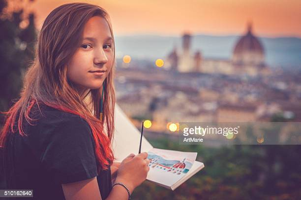Young artist in Florence