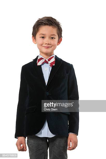 Young Asian Boy dressed up in bowtie