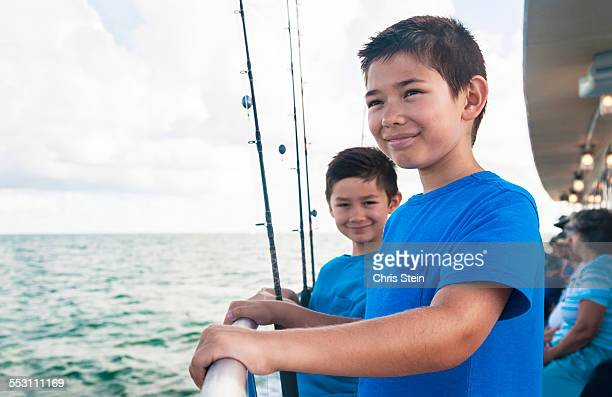 Young Asian Brothers on a party fishing trip