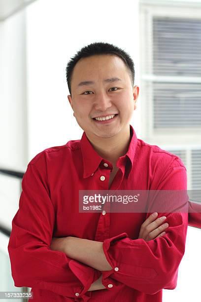 Junge asiatische business Mann