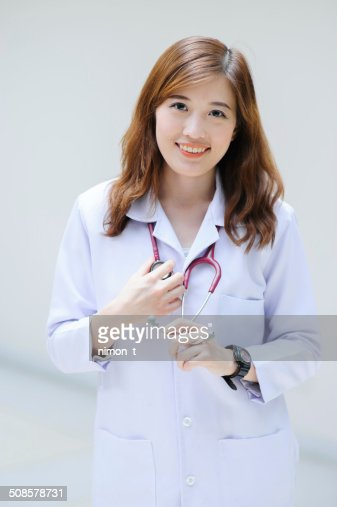 young asian doctor : Stock Photo