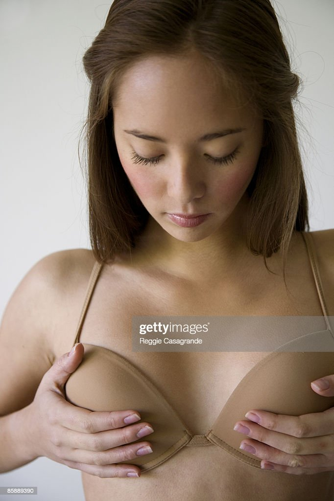 Young Asian girl wearing Bra : Stock Photo
