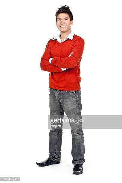 Junger asiatischer Mann (isoliert); XXXL