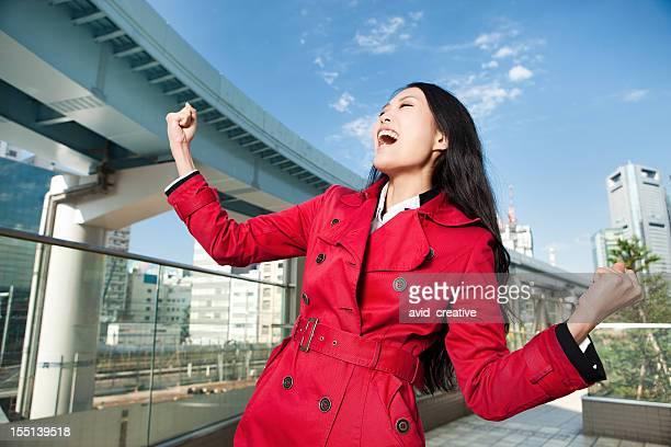 若いアジア人の女性が成功