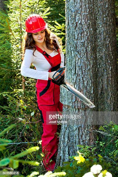 Female Lumberjack Stock Photos And Pictures | Getty Images