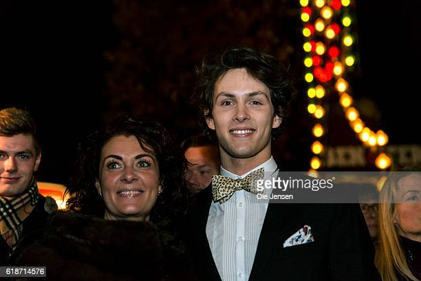 Young ballet dancer Andreas Kaas arrives with his mother to the Alvin Ailey American Dance Theater performance in the Tivoli Concert Hall in...