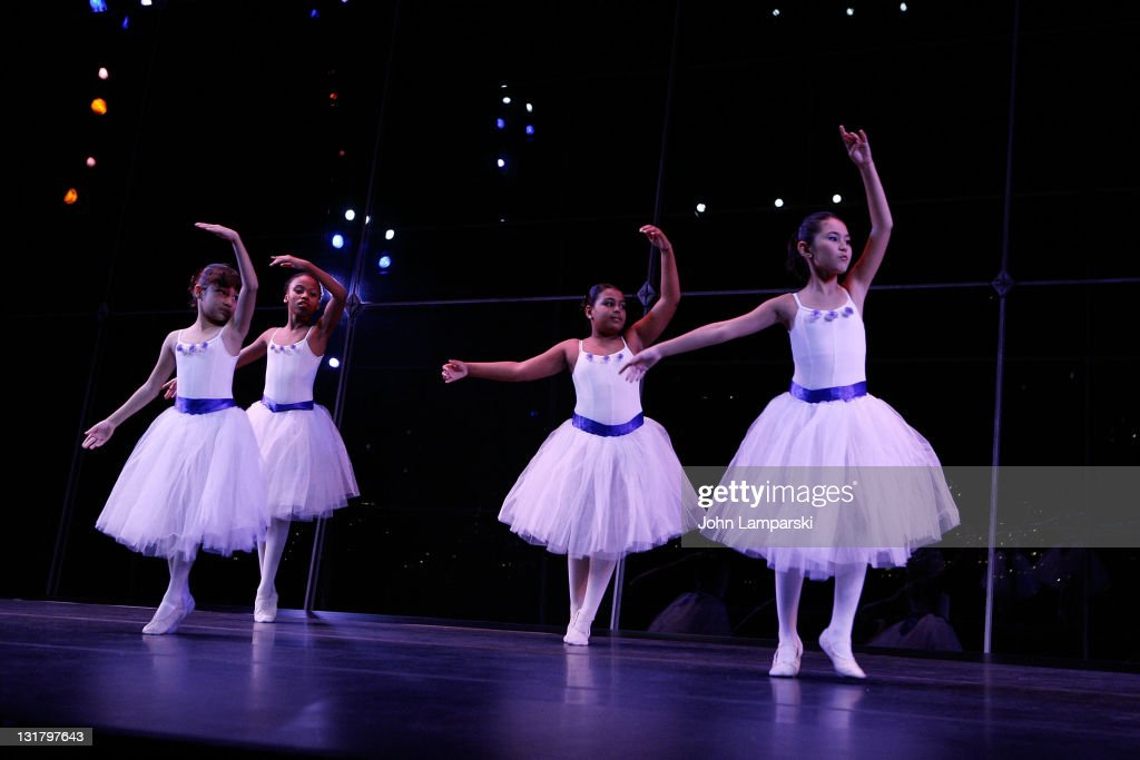 Young ballet dancers perform during the YMCA of Greater New York's Arts Letters auction and reception at the Frederick P Rose Hall Jazz at Lincoln...