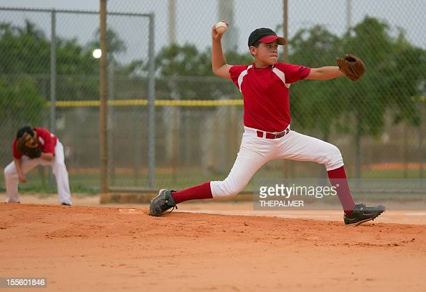 young baseball league pitcher