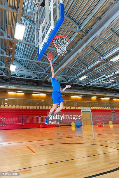 Young basketball player in Sportshall, Europe