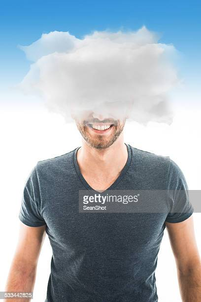 Young Bearded Man with Heads in the Clouds