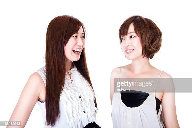 Young Beautiful Asian Women Talking