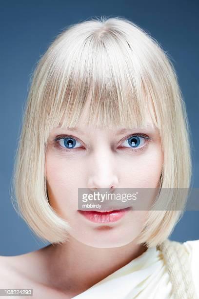 Young beautiful blond woman