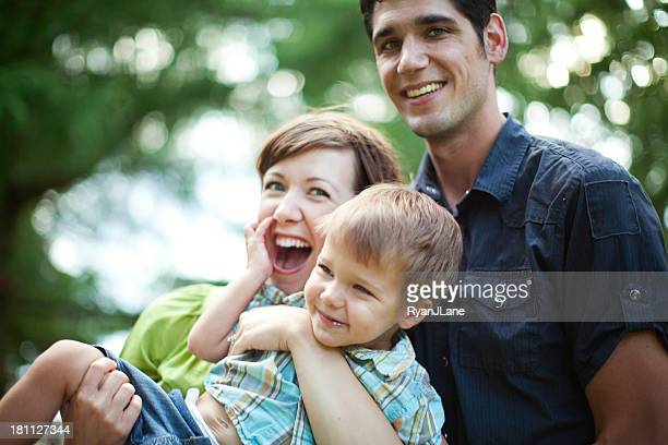 Young Beautiful Family Having Fun
