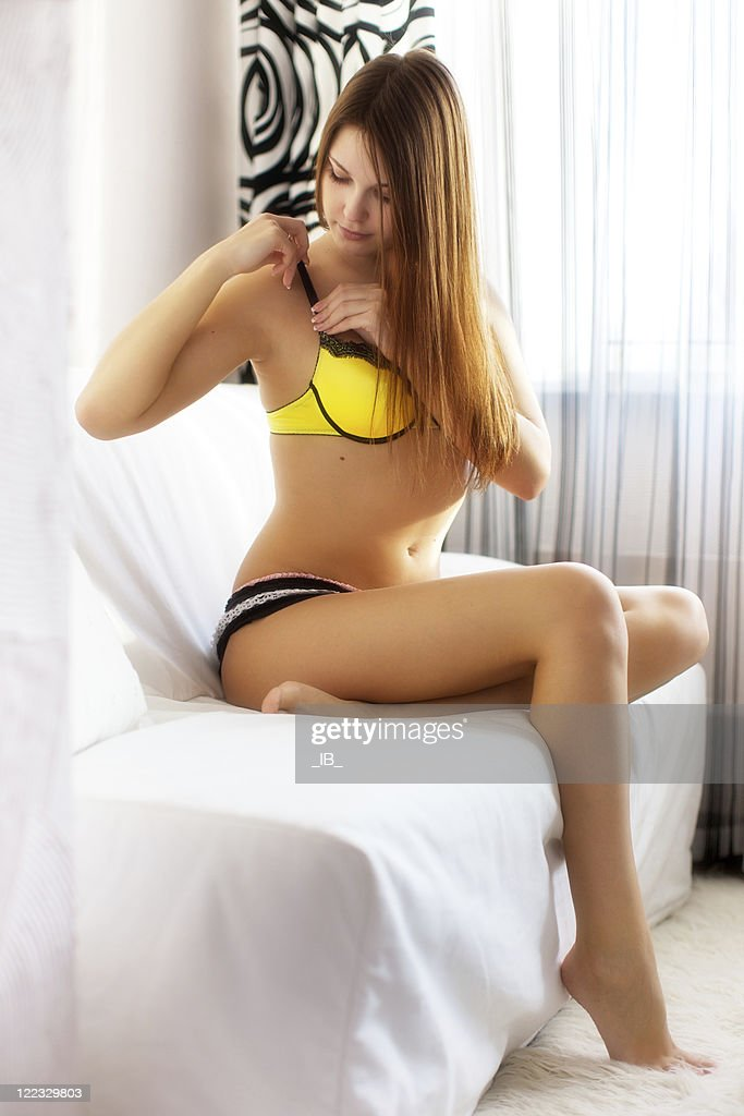 Girl with strap