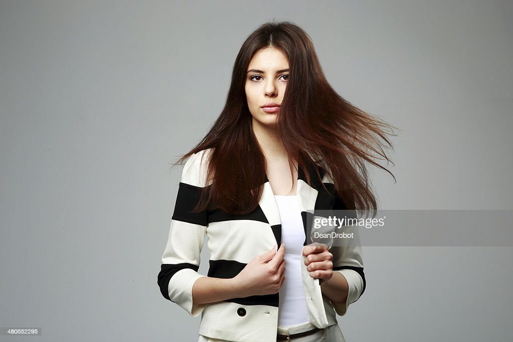 young beautiful woman in casual clothes : Stock Photo