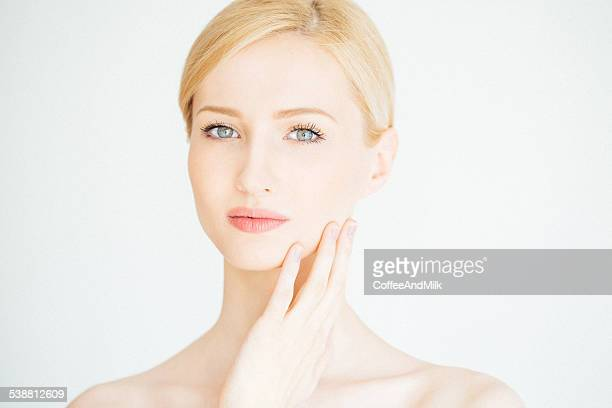 Young beautiful woman with natural makeup