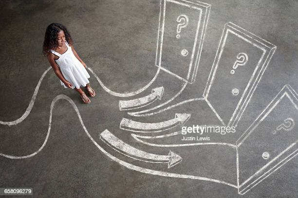 Young Black Girl Explores Options: 3 Choices