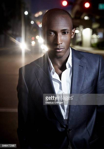 Young black man in business suit