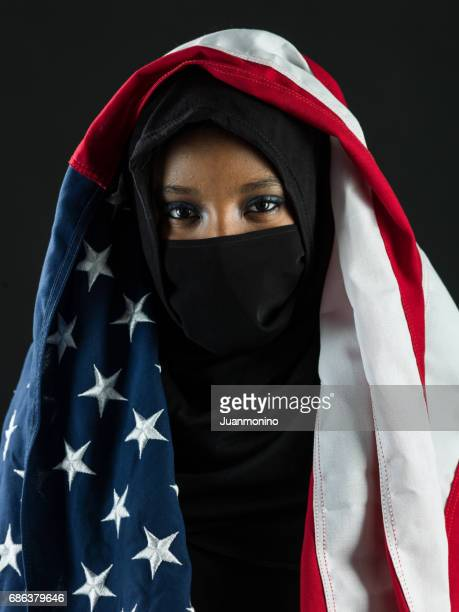 young black muslim woman