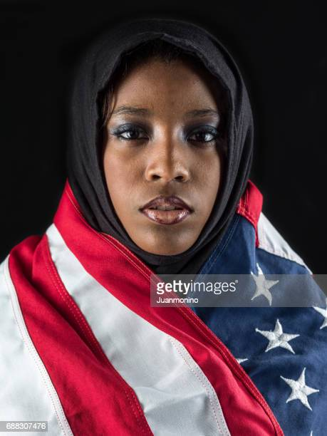 young black muslim woman
