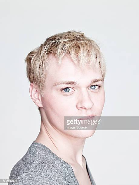 Young blond man
