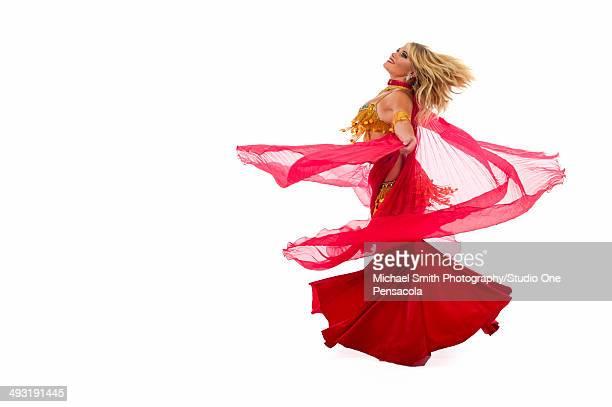 Young Blonde Cabaret Belly Dancer