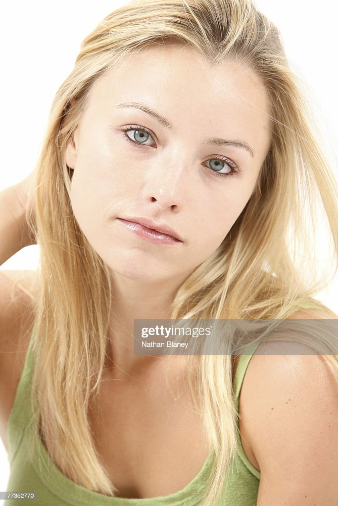 Young blonde woman. : Stock Photo