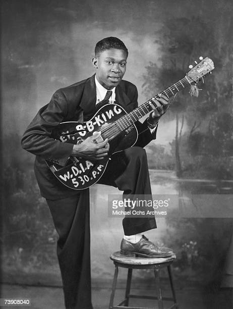 Young blues singer BB King a local DJ at WDIA poses for a portrait circa 1948 in Memphis Tennessee