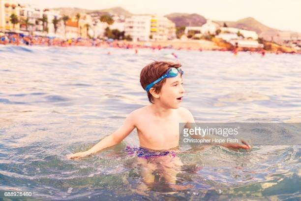 Young boy at the seaside
