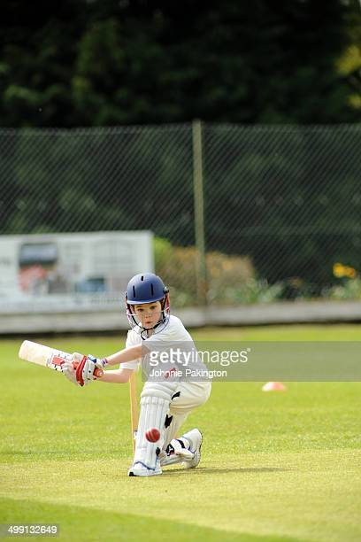 Young Boy Cricket Sweep shot