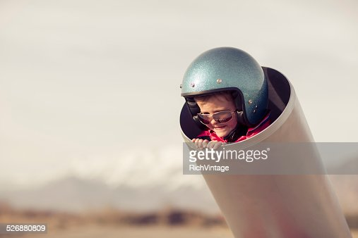 Young Boy in Human Cannon