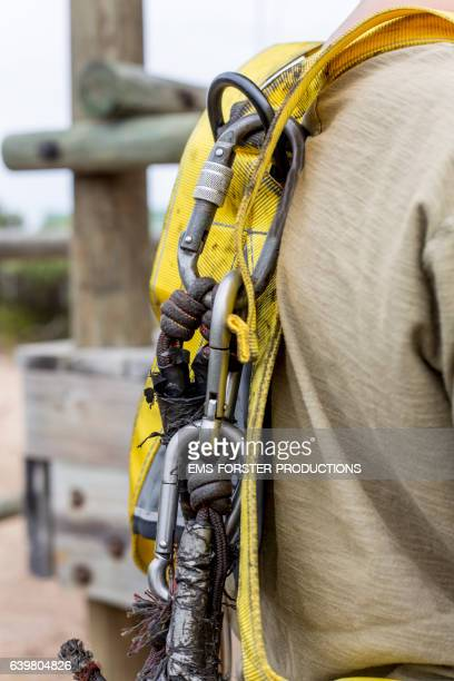 young boy is going to the zipline activity in south Africa