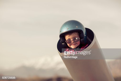 Young Boy is Human Cannonball in Cannon