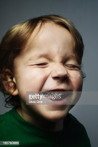 young boy laughing : Stock Photo