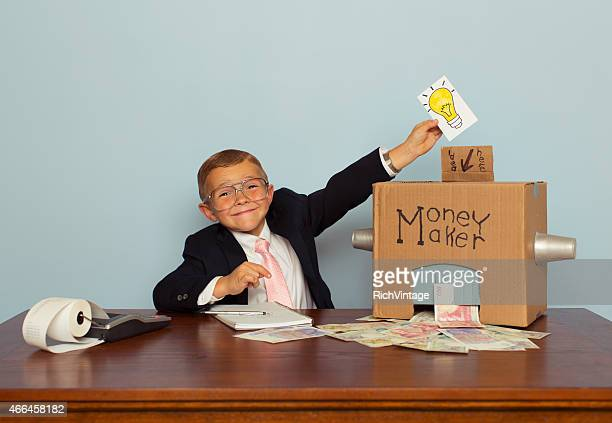 Young Boy Makes Money with Ideas