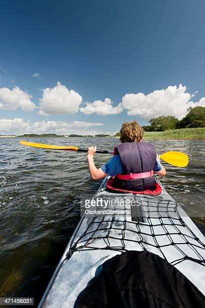 Young Boy Sea Kayaking