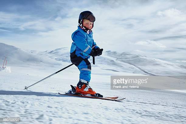 Young boy skiing, Hermavan, Sweden