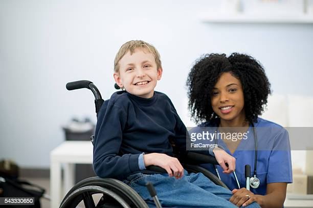 Young Boy with a Mental Disability in the Hospital