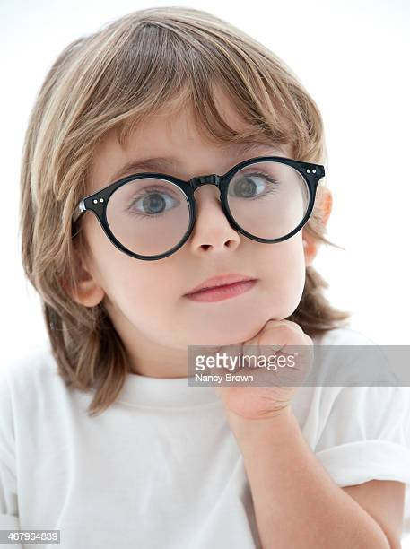 Young Boy with Big Glasses
